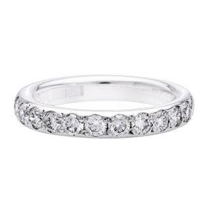 Strömdahls Juveler - Alliansring rondo 18K vitguld med 0,33 ct diamanter