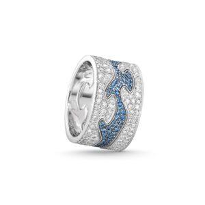 georg jensen pavé tre del safir diamant